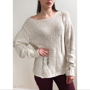 Cozy Free People knit sweater
